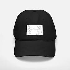 Bunnies Make Me Hoppy Baseball Hat