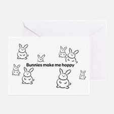 Bunnies Make Me Hoppy Blank Cards (Pk of 10)