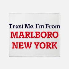 Trust Me, I'm from Marlboro New York Throw Blanket