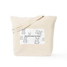 Bunnies Make Me Hoppy Tote Bag