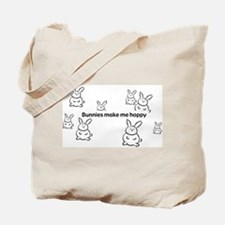 Bunnies Make Me Hoppy Tote Bag