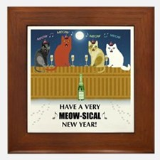 Meow-sical New Year Framed Tile