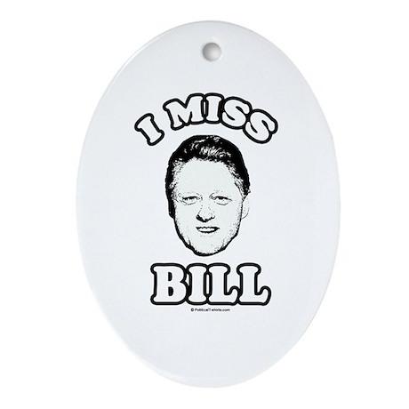 Hillary Clinton Oval Ornament