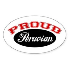 Proud Peruvian Oval Decal
