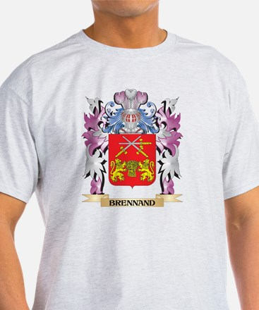 Brennand Coat of Arms (Family Crest) T-Shirt