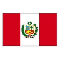 Peruvian Flag Rectangle Bumper Stickers