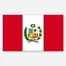 Peruvian Flag Rectangle Bumper Stickers