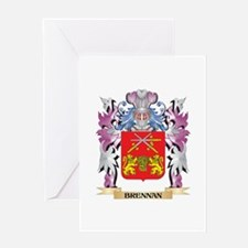 Brennan Coat of Arms (Family Crest) Greeting Cards