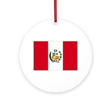 Peruvian Flag Ornament (Round)