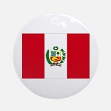 Peruvian Flag Ornament (Round)
