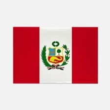 Peruvian Flag Rectangle Magnet