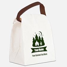CUSTOM Camping Design Canvas Lunch Bag