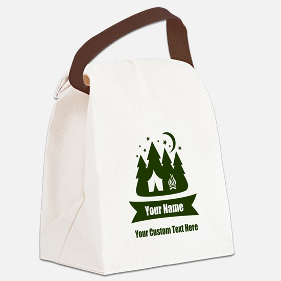 CUSTOM Camping Design Canvas Lunch Bag