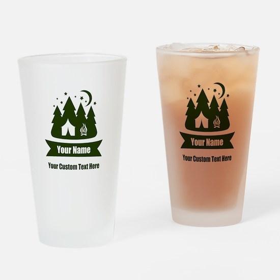 CUSTOM Camping Design Drinking Glass