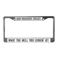 Anger Management Graduate License Plate Frame