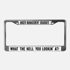 Anger Management Graduate License Plate Frame