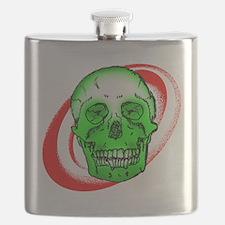 Green Skull Flask