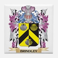 Brindley Coat of Arms (Family Crest) Tile Coaster