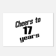 Cheers To 17 Years Postcards (Package of 8)