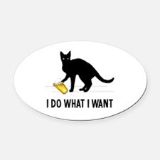 Cute What do we want Oval Car Magnet