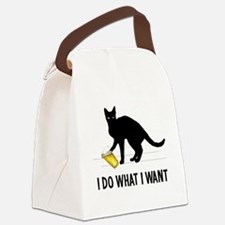 Cute What do we want Canvas Lunch Bag