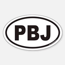 PBJ Euro Oval Decal