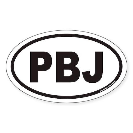 PBJ Euro Oval Sticker