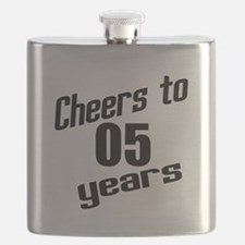 Cheers To 05 Years Flask