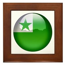 Esperanto Flag Jewel Framed Tile