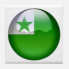 Esperanto Flag Jewel Tile Coaster