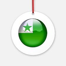 Esperanto Flag Jewel Ornament (Round)