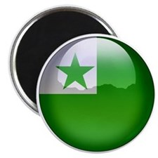 Esperanto Flag Jewel Magnet