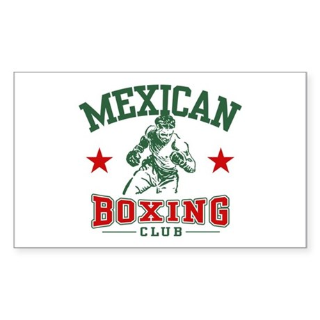 Mexican Boxing Rectangle Sticker
