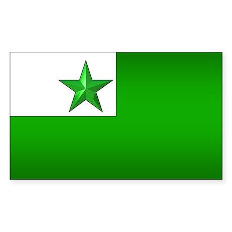 Esperanto Flag Jewel Rectangle Sticker