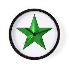 Verda Stelo (Green Star) Wall Clock
