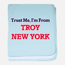 Trust Me, I'm from Troy New York baby blanket