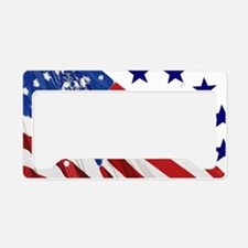 Old Glory License Plate Holder