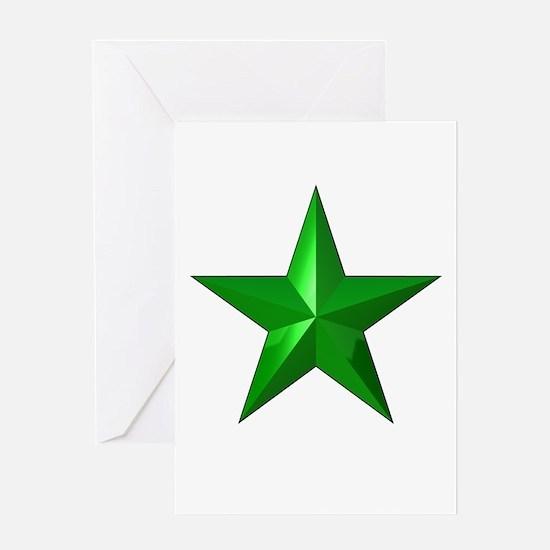 Verda Stelo (Green Star) Greeting Card