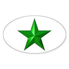 Verda Stelo (Green Star) Oval Decal