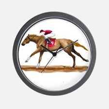 Racing Horse, Sorrel Wall Clock