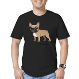 French bulldog Fitted T-shirts (Dark)