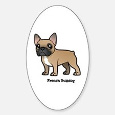 Cute French bulldogs Sticker (Oval)