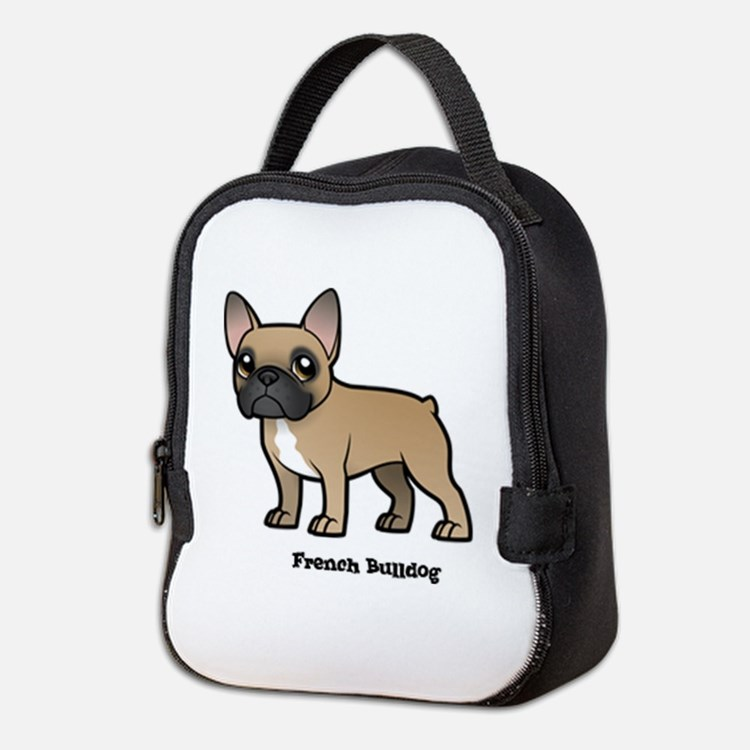 french bulldog Neoprene Lunch Bag