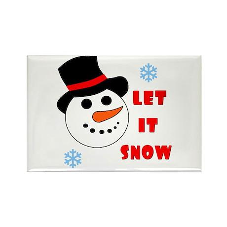 LET IT SNOW Rectangle Magnet