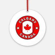 Cute Calgary Round Ornament