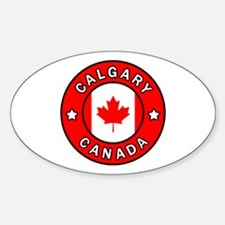 Cute Calgary Sticker (Oval)