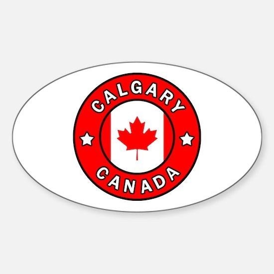 Cute Calgary canada Sticker (Oval)