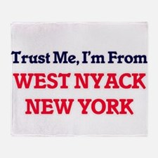 Trust Me, I'm from West Nyack New Yo Throw Blanket
