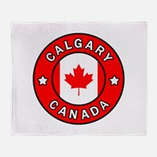 Calgary Canada Throw Blanket