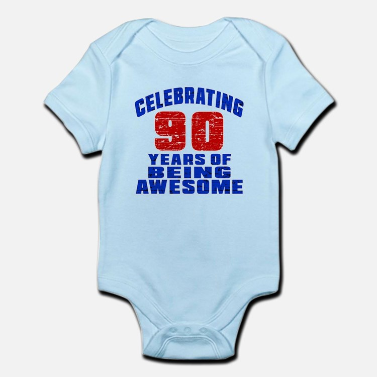 Celebrating 90 Years Of Being Awes Infant Bodysuit